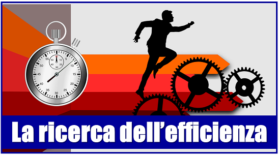 la ricerca dell'efficienza